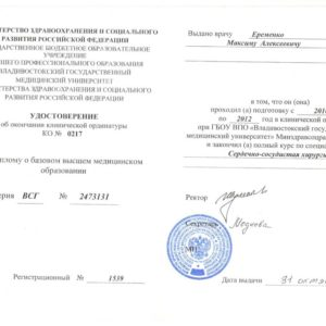 Документы Еременко М.А.
