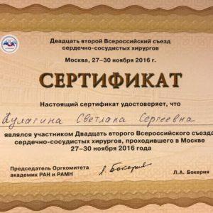 Документы Кулагиной С.С.